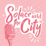 Solace and the city logo pink backgrond