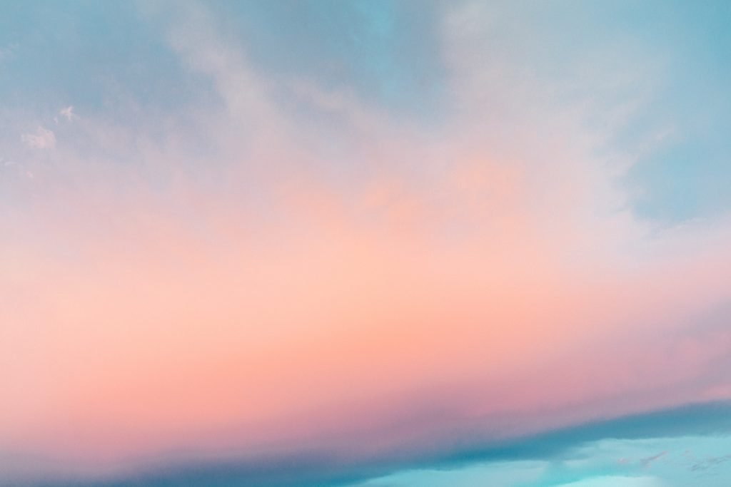 Pink and blue pastel clouds